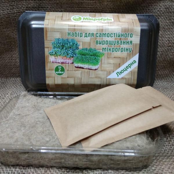 Набор для выращивания микрозелени микрогрина люцерны